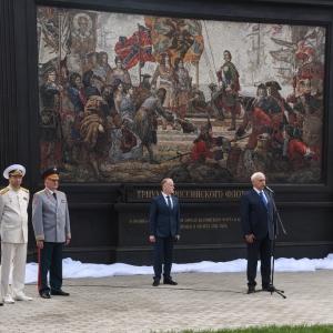 Открытие памятного знака «Триумф Российского флота» в Кронштадте.