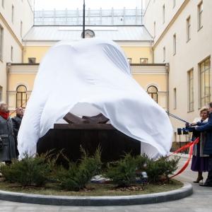 Открытие скульптурной композиции «Справедливость и милосердие» работы З.К.Церетели на территории Дома прав человека в Москве