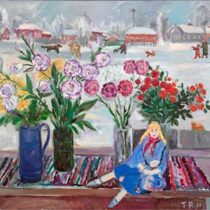 Т.И. Рыжова. Натюрморт с куклой. Холст,масло. 90х100. 2011