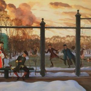 К.А.Сомов (1869–1939). Зима. Каток. 1915. ГРМ
