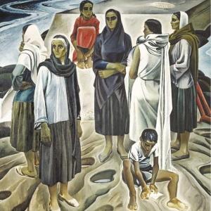 Т.Т. Салахов. Женщины Апшерона. Х.м. 263х263. 1967