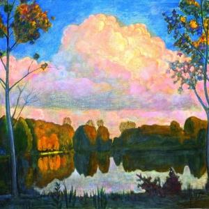 .,С.Мызников. Пейзаж 2003 Х., м., 90х120