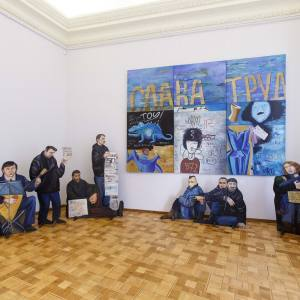 «Диалог со временем». Выставка произведений Татьяны Назаренко в Российской академии художеств.