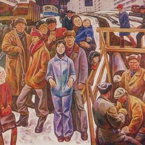 И.И.Симонов (1927-2019). Окраина нового района Уралмаша.1979.