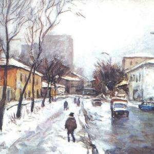 И.И.Симонов (1927-2019). Городской мотив.2003.