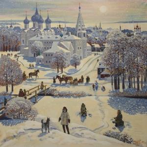 Выставки произведений Валерия и Елены Ржевских в Болдино.