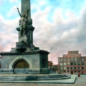 Н.А.Андреев. Монумент советсткой Конституции. 1918-1919.Москва