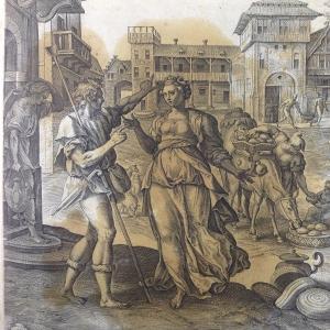 Библия Пискатора. Авигея собирает дары Давиду