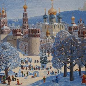 В.Н.Ржевский. С Новым годом и Рождеством (Новодевичий монастырь).