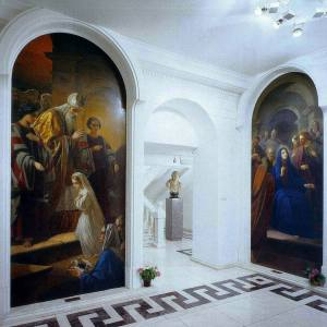 Дом Долгоруоквых. Галерея искусств Зураба Церетели. Парадный вестибюль. Фото 2000-х гг.