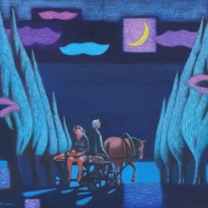 Абисалов Ю.Х. Лунные блики. Х. м., 80х100см. 2017