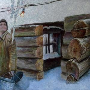 А.П. Рыбкин. Весна пришла. Мужик Российский. Х.м. 125х202. 2014