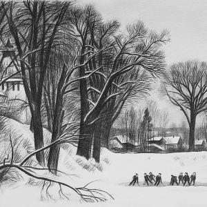 В.В.Дранишников (1936-2019). Из серии «Снега России»