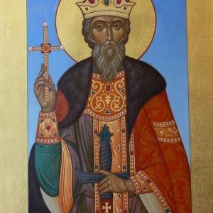 Выставка произведений современных художников церковного искусства в Российской академии художеств.