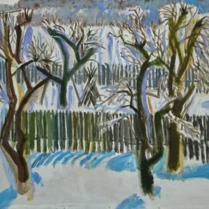 «Зима в деревне Матюшино». Выставка произведений Игоря Пчельникова в Липецке.