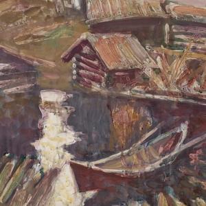 Выставка произведений Константина Петрова в Саратове.