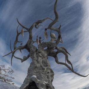 «Между небом и землей». Выставка произведений Даши Намдакова в Парке Горького