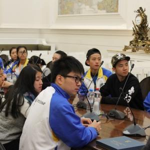 07.10.2015. Визит в РАХ делегации студентов из Макао (КНР)