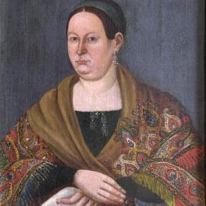 Колендас П. Портрет купчихи. 1842 г. ПЗМ.