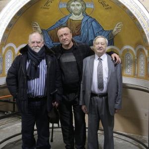 Визит Святейшего Патриарха Сербского Иринея в Российскую академию художеств и мозаичную мастерскую.