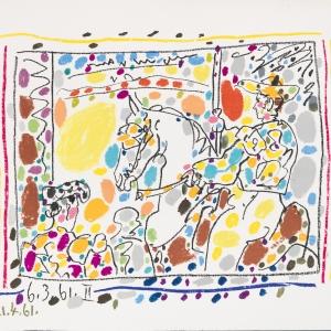Выставка «Париж для своих. Пабло Пикассо, Марк Шагал, Зураб Церетели» в Москве. П.Пикассо. Пикадор. 1961