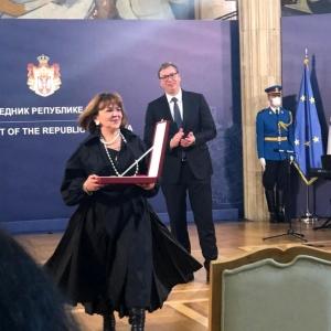 Академик РАХ Манана Попова удостоена высокой государственной награды Республики Сербии