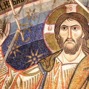 Торжественная церемония  передачи Сербской Православной церкви мозаичного убранства главного купола Храма Святого Саввы в Белграде.