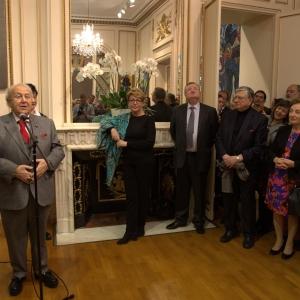 Мастер-класс и выставка произведений Зураба Церетели в Российском центре науки и культуры в Париже