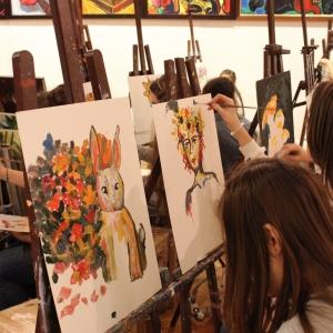 Победители конкурса «Музыкальные каникулы «Читаем, играем, рисуем, творим!» посетили мастер-класс Зураба Церетели