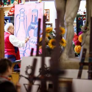 Мастер-класс З.К.Церетели для победителей международной выставки-конкурса «Белая ворона»