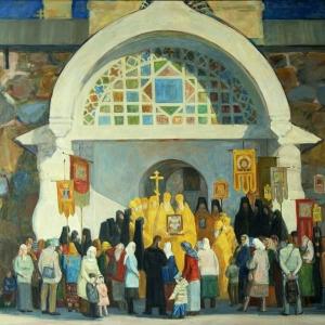П.В. Илюшкина. Церковный праздник в Соловецком монастыре. 2015