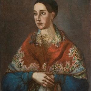 Колендас П. Неизвестная с шалью. 1840-е гг. СПМЗ.