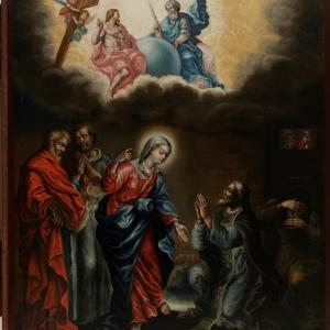 Икона «Явление Богоматери преподобному Сергию Радонежскому».  1753  г. Троице-Сергиева лавра