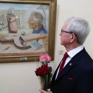 Юбилейная выставка произведений Анатолия Учаева в Радищевском музее (Саратов).