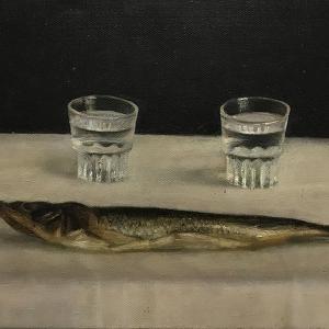 Е.Корнилова. Натюрморт с рыбой
