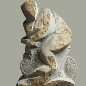 В.В.Тишин.(1963-2015).Велосипедистка.2005.камень. 53х30х22