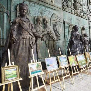 The second Diplomats' artworks exhibition in the Russian Academy of Arts/ Вторая художественная выставка произведений дипломатов в РАХ.