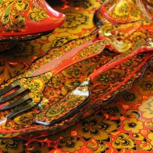 07.10.2019. Российская академия художеств.Круглый стол и мастер-класс «Искусство древней хохломы: династия Лушиных»