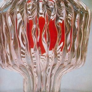 В.С.Муратов (1929-2005). Ваза Катунь.1975.  Цветной хрусталь, цветное стекло.
