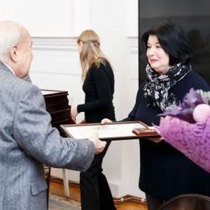 На заседании Президиума РАХ 24 сентября 2019 года. На первом плане -З.К.Церетели, А.А.Шмакова