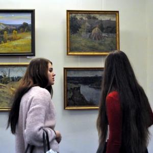 Выставка по итогам Седьмого пленэра «На родине И.Н. Крамского» в Воронеже.