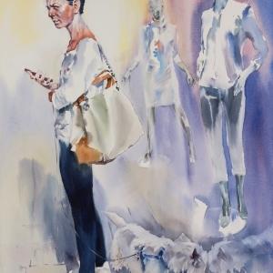 «Войти в реку дважды». Выставка произведений Андрея Есионова в Ташкенте