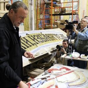 Пресс-тур для представителей сербских СМИ в мозаичной мастерской