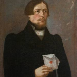 Колендас П. Неизвестный с письмом. 1840-е гг. СПМЗ