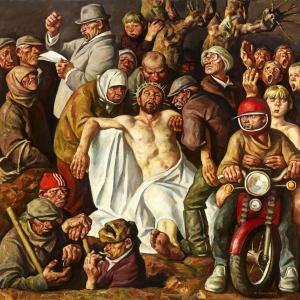 И.И.Симонов (1927-2019). Похороны Христа.