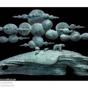 «Хрупкость в бронзе».  Выставка произведений Олега Закоморного в Московском Доме Книги.