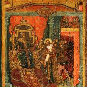 Василий Великий с житием. Клеймо 27