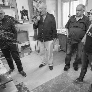 Просмотр работ художников-стажеров Творческой мастерской скульптуры РАХ (Москва).