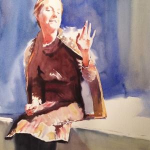 Выставка «Отражения в цветной воде». Акварели и рисунки А.Есионова в ММОМА