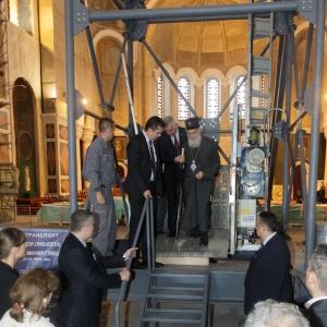 22.05.2017. Церемония закладки первого камня мозаики купола Храма Святого Саввы в Белграде.